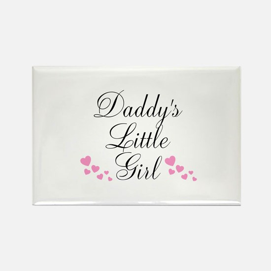Daddys Little Girl Pink Hearts Magnets