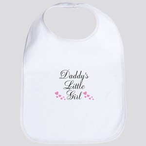 Daddys Little Girl Pink Hearts Bib