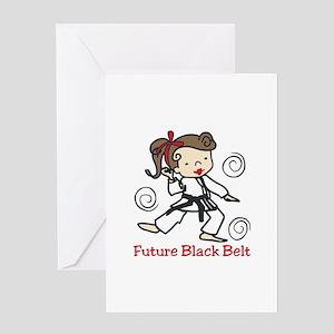 Future Black Belt Greeting Cards