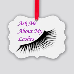 Ask me about my Lashes Picture Ornament