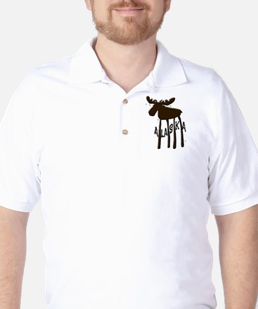 Alaska Moose Golf Shirt