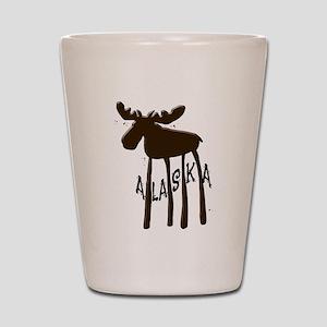 Alaska Moose Shot Glass