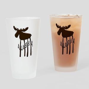 Alaska Moose Drinking Glass