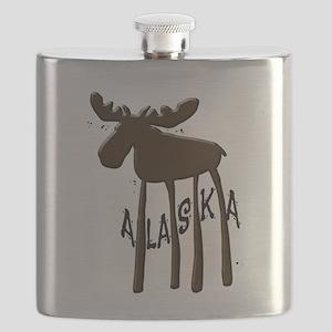 Alaska Moose Flask