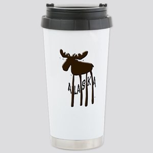 Alaska Moose Stainless Steel Travel Mug