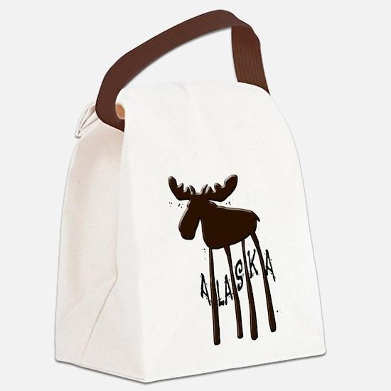 Alaska Moose Canvas Lunch Bag