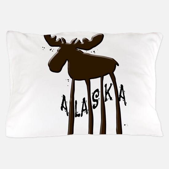 Alaska Moose Pillow Case