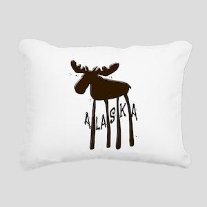 Alaska Moose Rectangular Canvas Pillow
