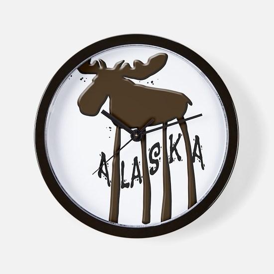 Alaska Moose Wall Clock