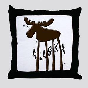 Alaska Moose Throw Pillow