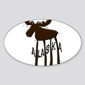 Alaska Moose Sticker (Oval)