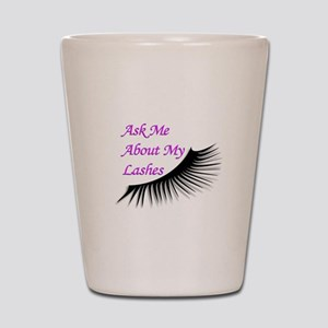 Ask me about my Lashes Shot Glass