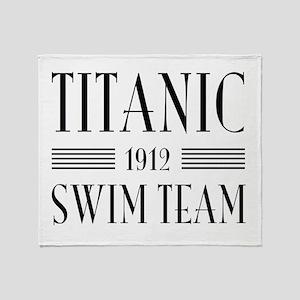 Titanic swim team 1912 Throw Blanket