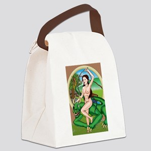 orientdragon Nude Canvas Lunch Bag