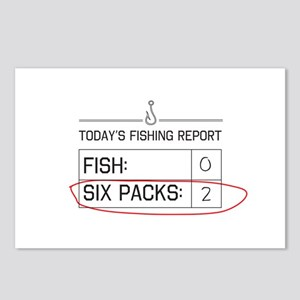 Today's fishing report Postcards (Package of 8)