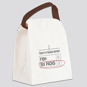 Today's fishing report Canvas Lunch Bag
