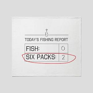 Today's fishing report Throw Blanket