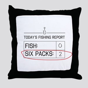 Today's fishing report Throw Pillow