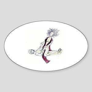 Medusa Colour Sticker (Oval)