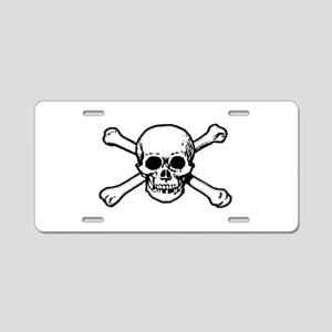 Skull & Crossbones Aluminum License Plate