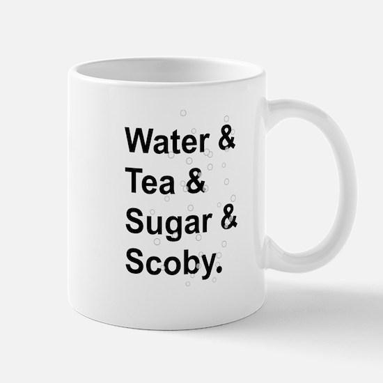Water Tea Sugar Scoby Mugs