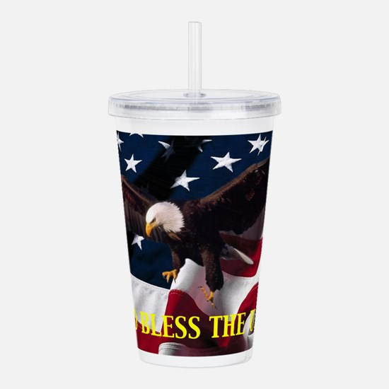 God Bless The U.S.A. Acrylic Double-wall Tumbler