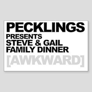 RB Pecklings Dark Sticker (Rectangle)