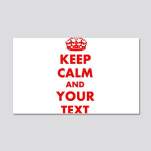 Keep Calm personalize Wall Decal