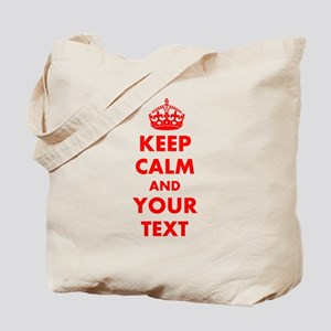 Keep Calm personalize Tote Bag