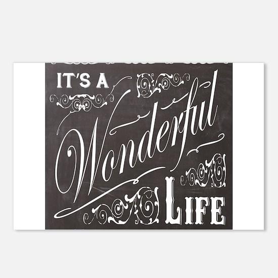 vintage holiday chalkboard art Postcards (Package