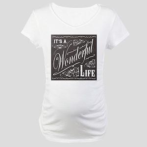 vintage holiday chalkboard art Maternity T-Shirt