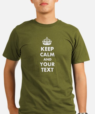 Personalized Keep Calm and carry on T-Shirt