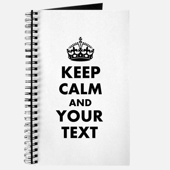 Personalized Keep Calm and carry on Journal