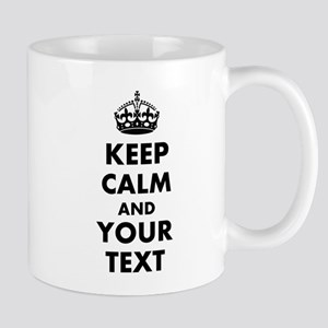Personalized Keep Calm and carry on Mugs