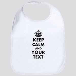 Personalized Keep Calm and carry on Bib
