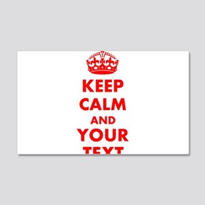 Personalized Keep Calm and carry 20x12 Wall Decal