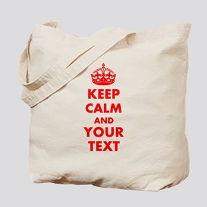 Personalized Keep Calm and carry on Tote Bag