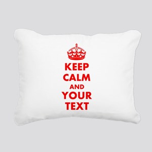Personalized Keep Calm a Rectangular Canvas Pillow