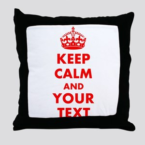 Personalized Keep Calm and carry on Throw Pillow