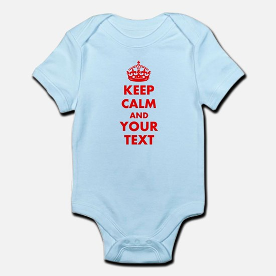 Personalized Keep Calm and carry o Infant Bodysuit