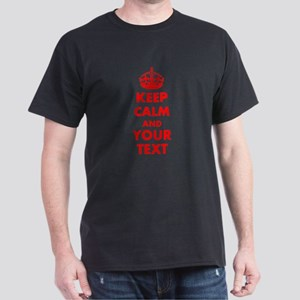 Personalized Keep Calm and carry on Dark T-Shirt