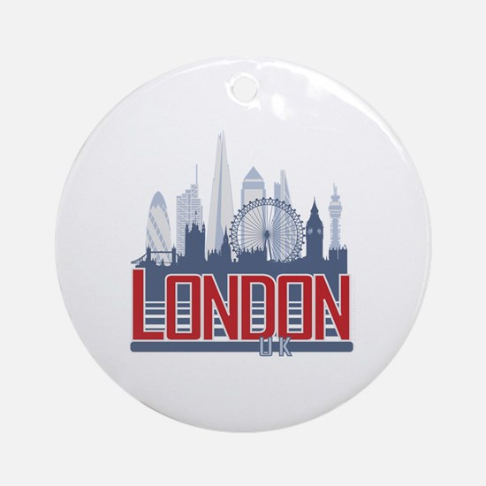 Cute Tower london Round Ornament