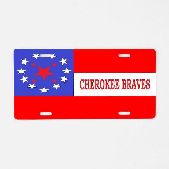 Cherokee Rifles Aluminum License Plate