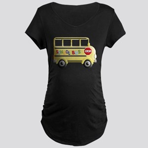cute yellow school bus Maternity T-Shirt