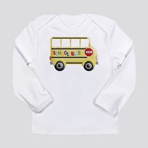 cute yellow school bus Long Sleeve T-Shirt
