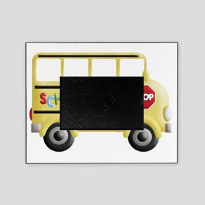 cute yellow school bus Picture Frame