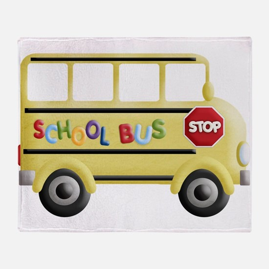 Funny School and education Throw Blanket