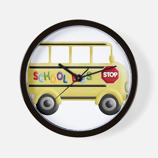 Unique School bus driver Wall Clock