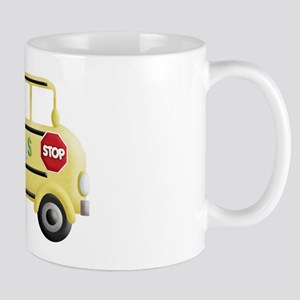 cute yellow school bus Mugs