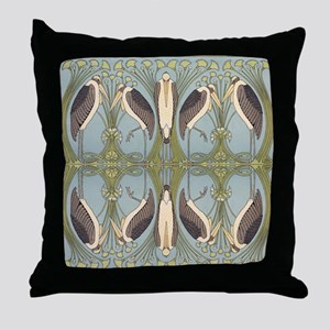 Storkish Throw Pillow
